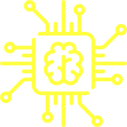 Illustration shows a human brain on a chip.
