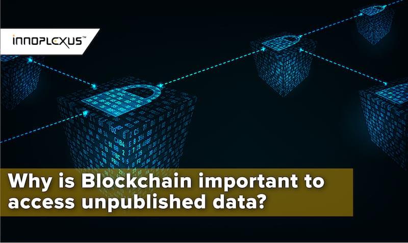 Blockchain in unpublished data